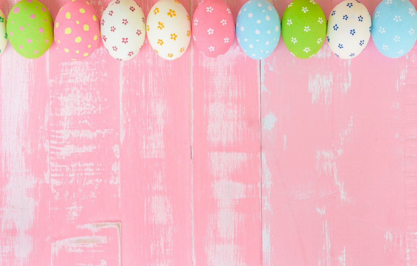 Photo Wallpaper Eggs, Easter, Pink Background, Wood, - Pastel Colors - HD Wallpaper