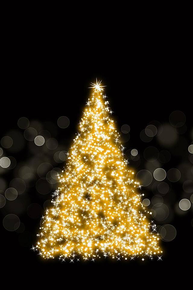 Com Apple Wallpaper Sparkling Christmas Tree Iphone4 - Christmas Tree Wallpaper Iphone - HD Wallpaper