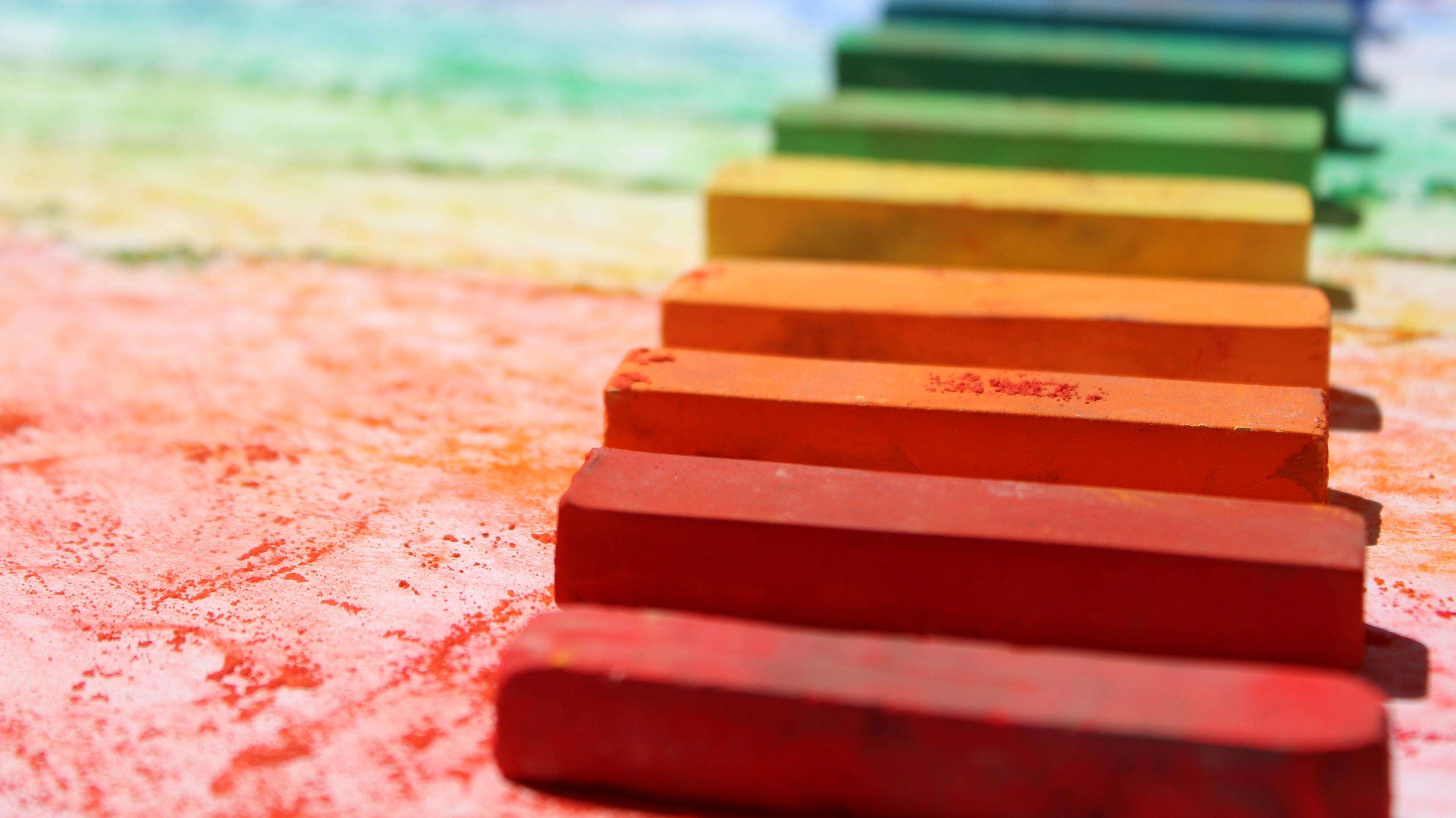 Wallpaper Pastel, Color, Pencils, Chalk - Background Colorful Pastel Hd - HD Wallpaper