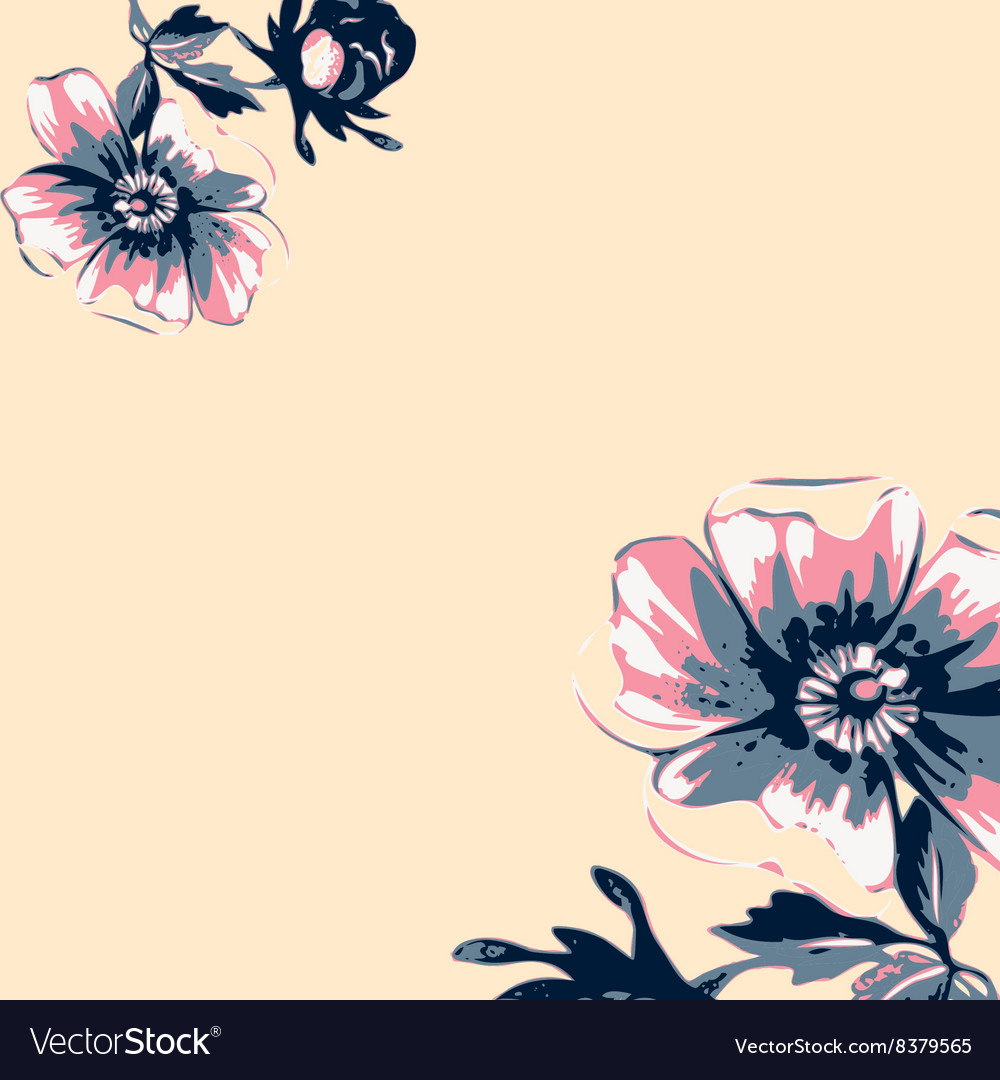 Vintage Flower Wallpaper Frame - HD Wallpaper