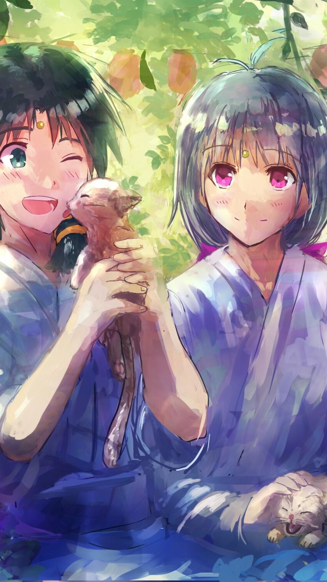 Love Animated Wallpaper Images Love Anime Couple Wallpapers Anime Couple Wallpaper Romantis 1080x1920 Wallpaper Teahub Io