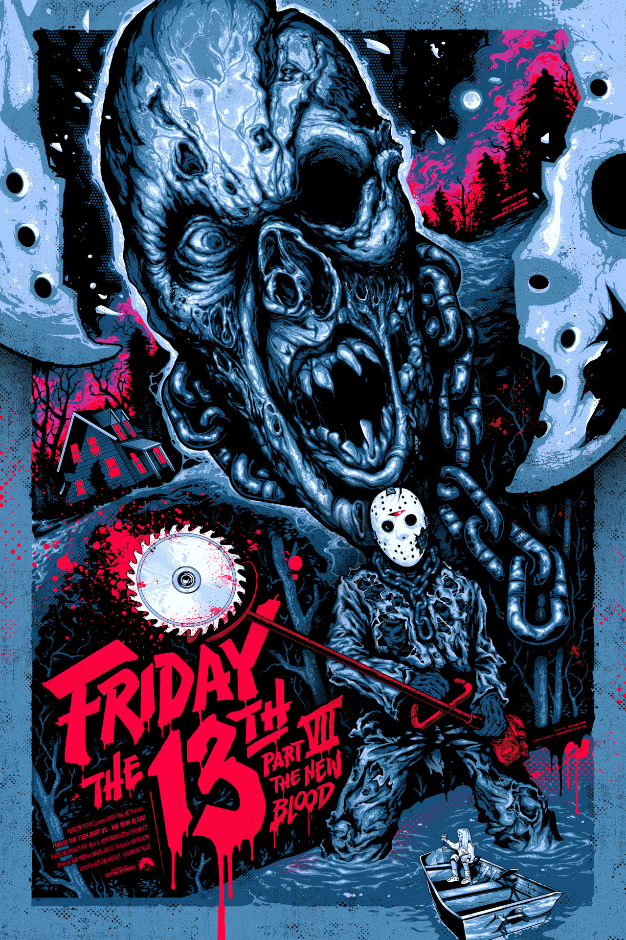 1280x1920, Classic Horror Movie Wallpaper 33   Data - Friday The 13th Part 7 Poster - HD Wallpaper