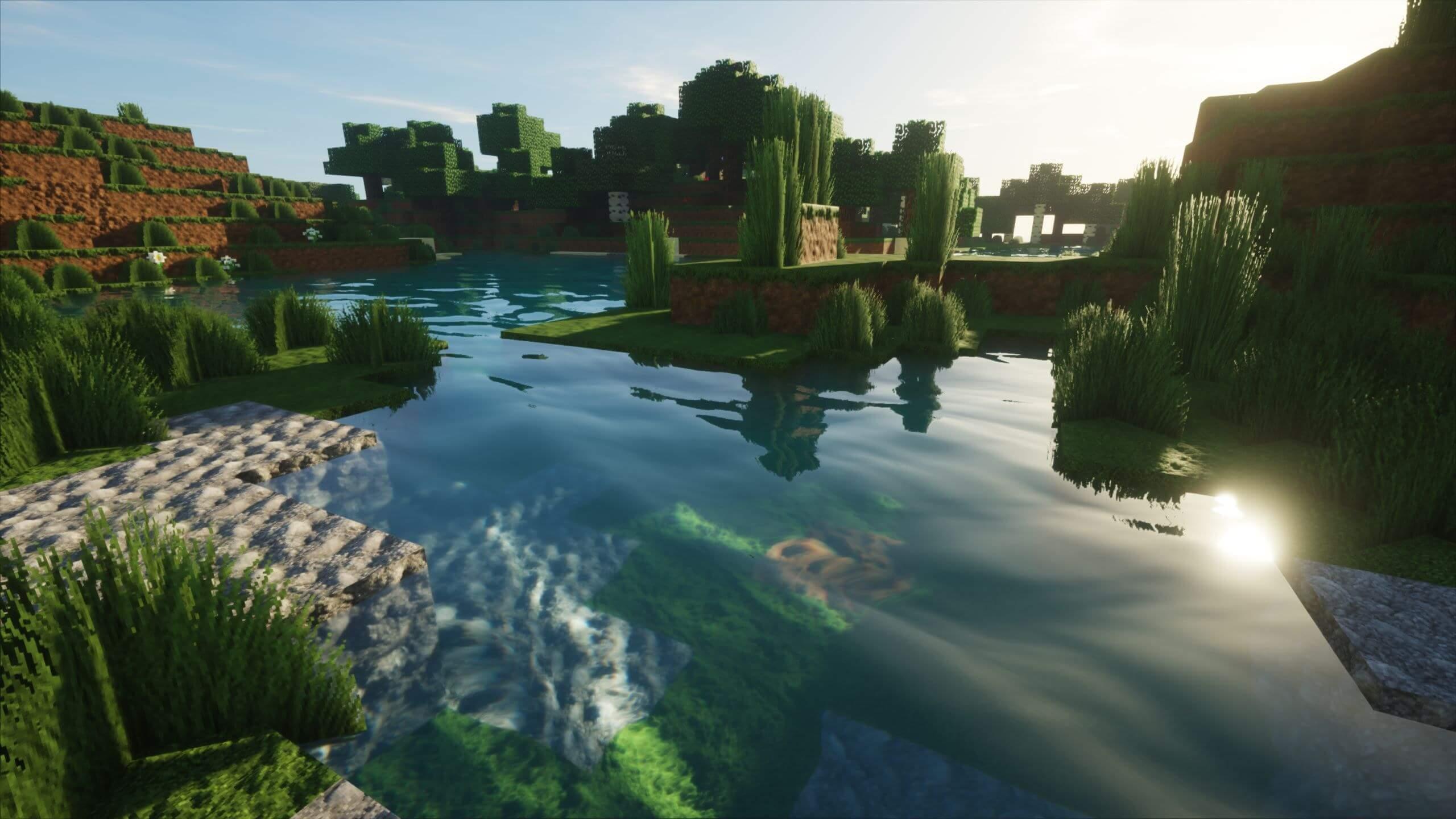 Minecraft Seus Shader 2560x1440 Wallpaper Teahub Io