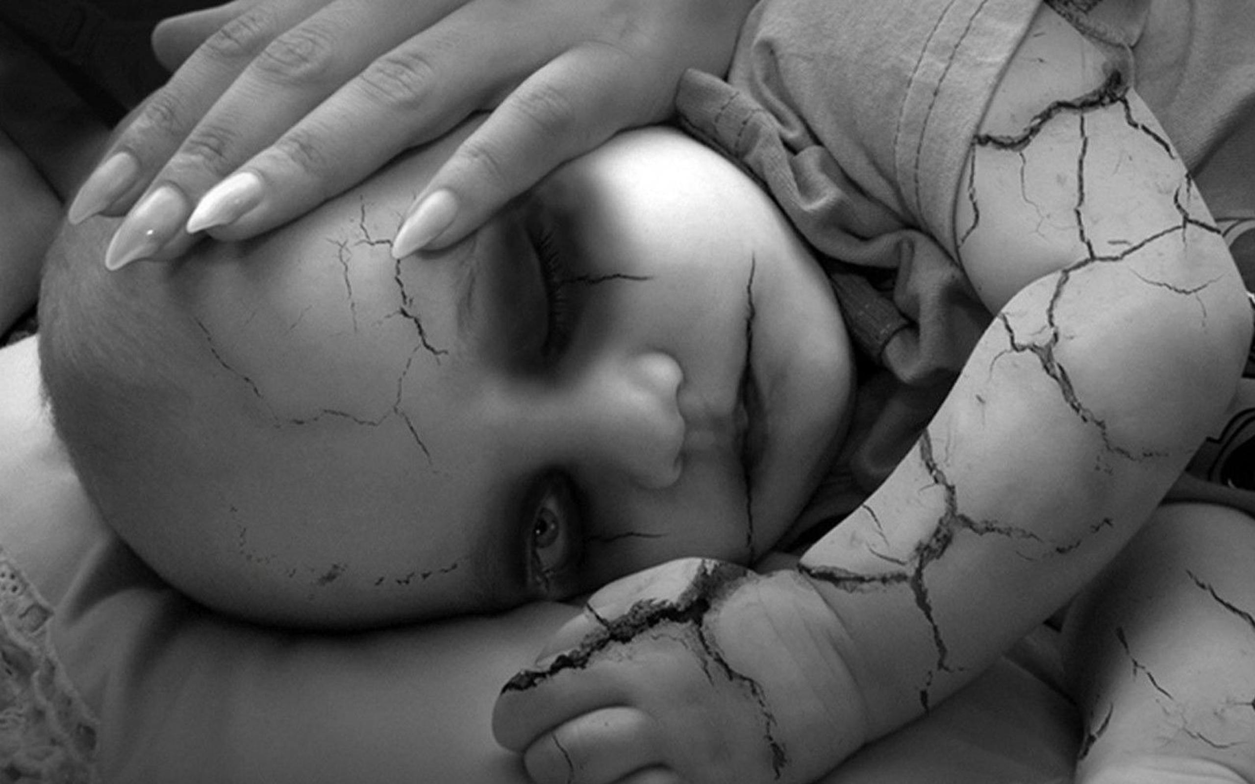 Scary Wallpapers Desktop Background Hd Wallpaper - Dark Baby Art - HD Wallpaper