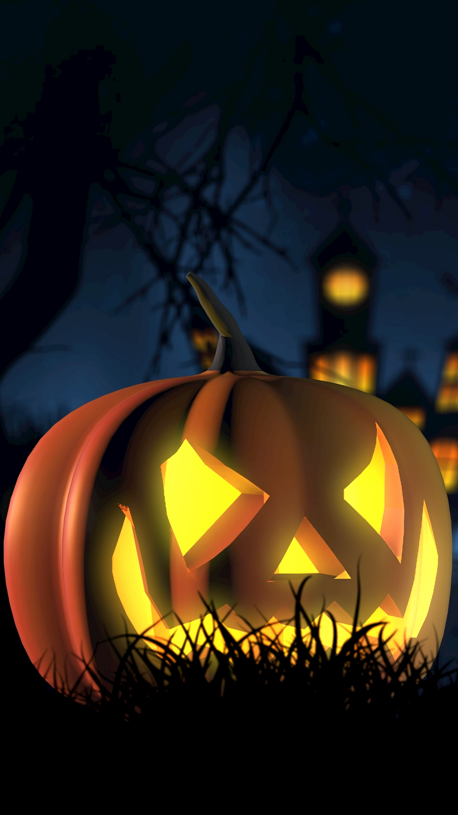 Wallpaper Halloween Pumpkin Spooky Face Autumn Pumpkin Halloween Background Iphone 938x1668 Wallpaper Teahub Io