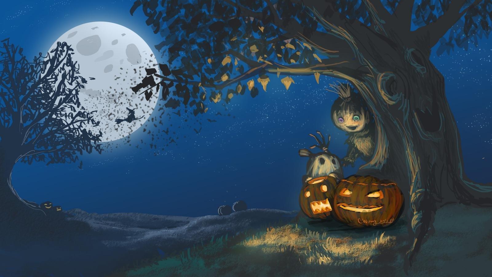 Download Hd Halloween Pc Wallpaper Id Halloween Wallpaper Pc 1600x900 Wallpaper Teahub Io