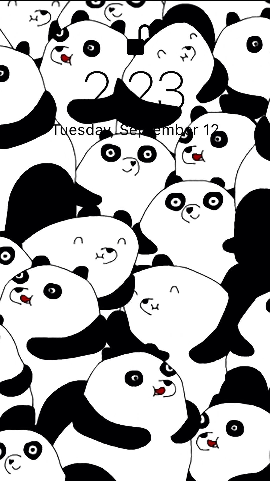 Cute Animated Panda Gif 1080x1920 Wallpaper Teahub Io