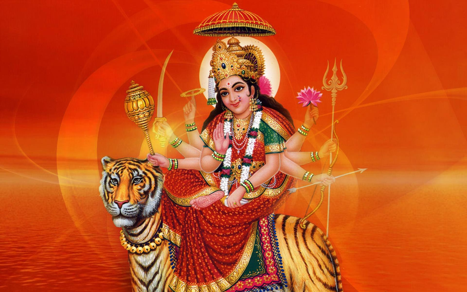 Durga Mataji Happy Navratri Wallpaper Maa Durga Pic Whatsapp Dp 1920x1200 Wallpaper Teahub Io