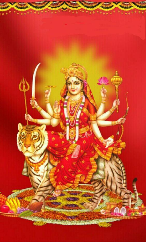 Mata Rani Hd Wallpapers Durga Maa Image Download 564x935 Wallpaper Teahub Io