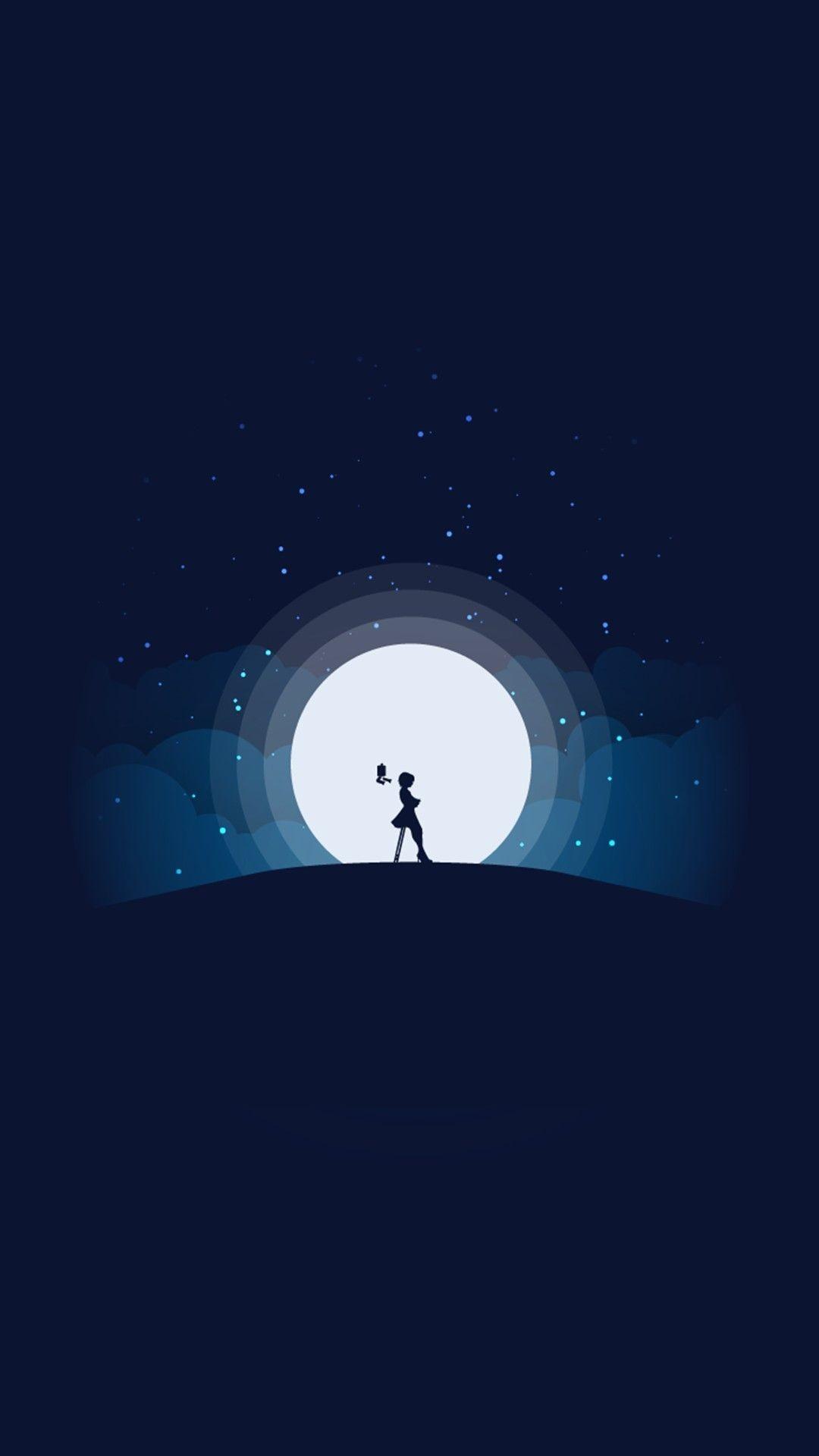 Iphone Wallpaper Moon, Black Wallpaper, Lock Screen   Darkness ...