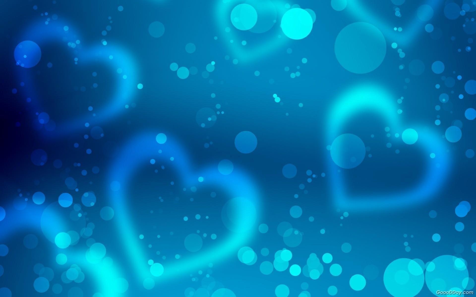 1920x1200, Cute Blue Heart Backgrounds 12494 Full Hd - Blue Heart Background Hd - HD Wallpaper