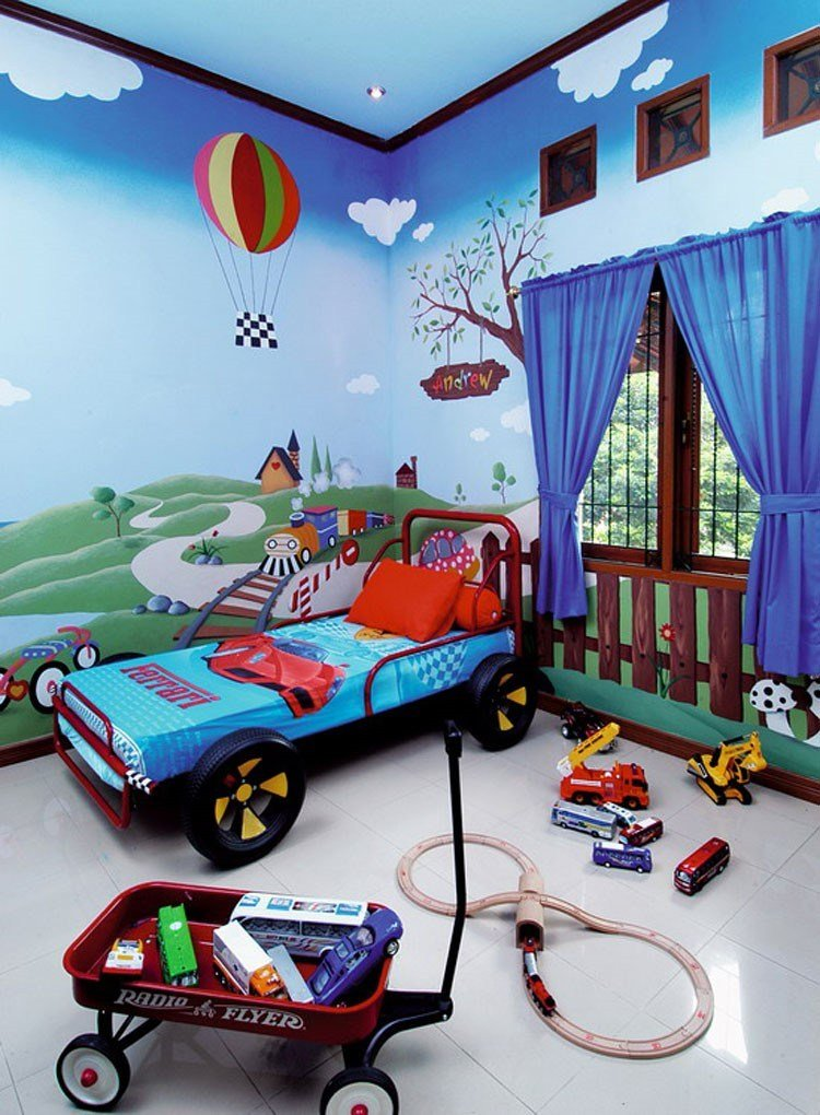 Dinding Kamar Anak Laki Laki - HD Wallpaper