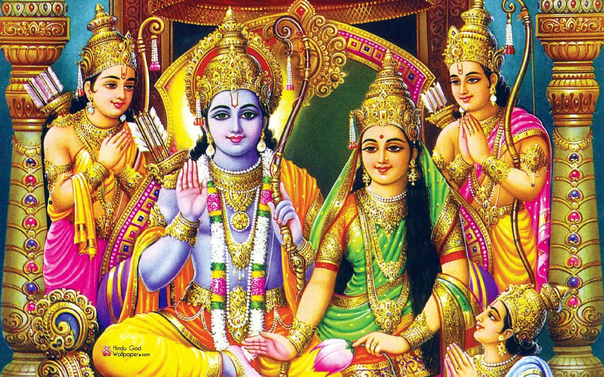 Ram Darbar Hd Wallpapers Full Size Free Download - God Rama And Sita - HD Wallpaper