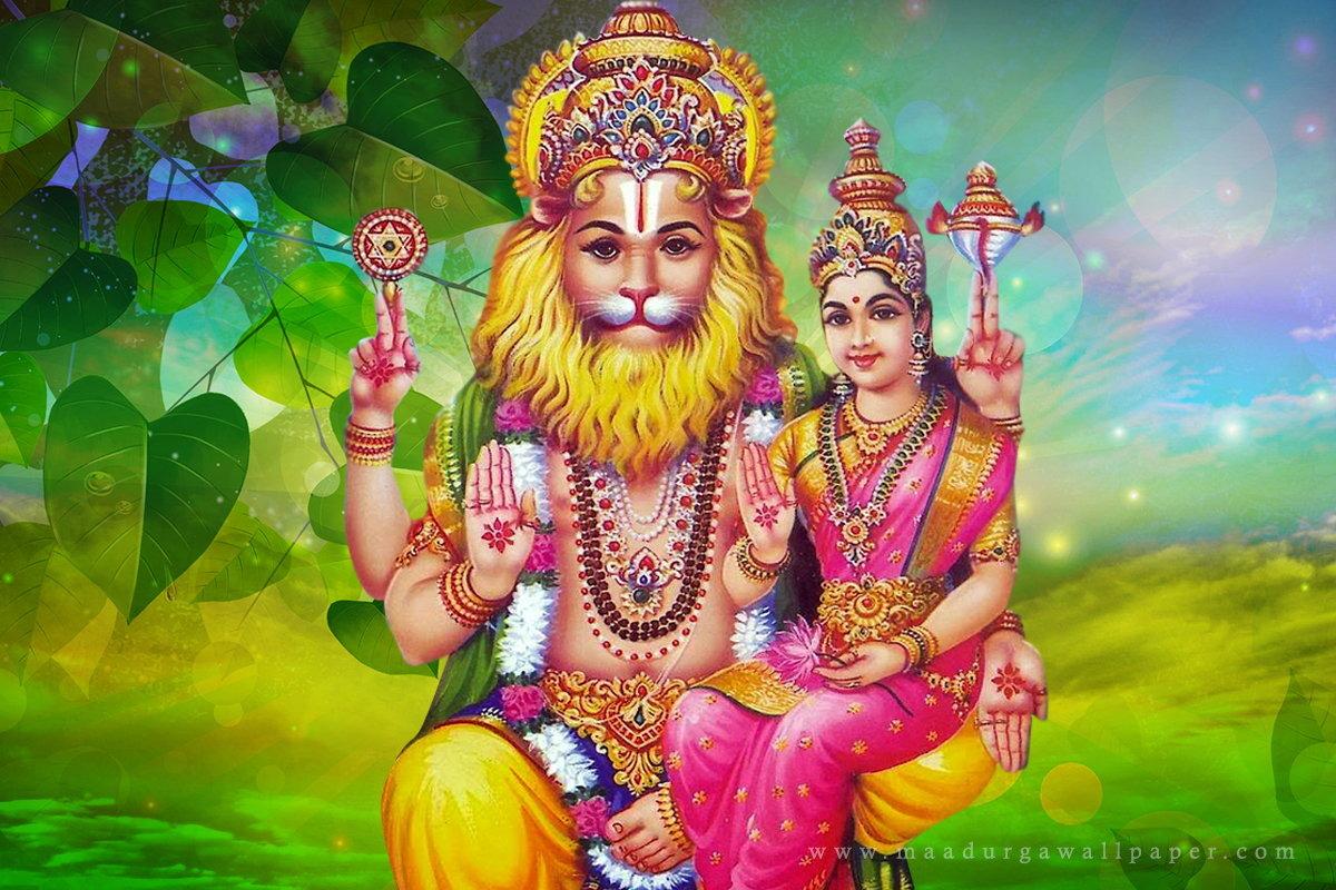 Lord Narasimha Images, Hd Wallpaper For Mobile - Lakshmi Narasimha Swamy - HD Wallpaper
