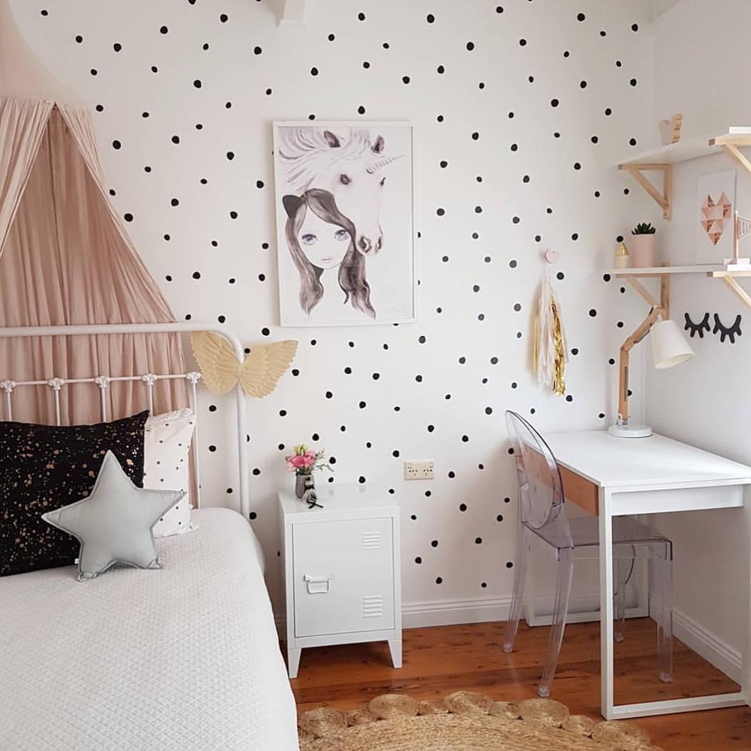 Dekorasi Dinding Kamar Anak Perempuan Minimalis - Desain Dinding Kamar Remaja - HD Wallpaper