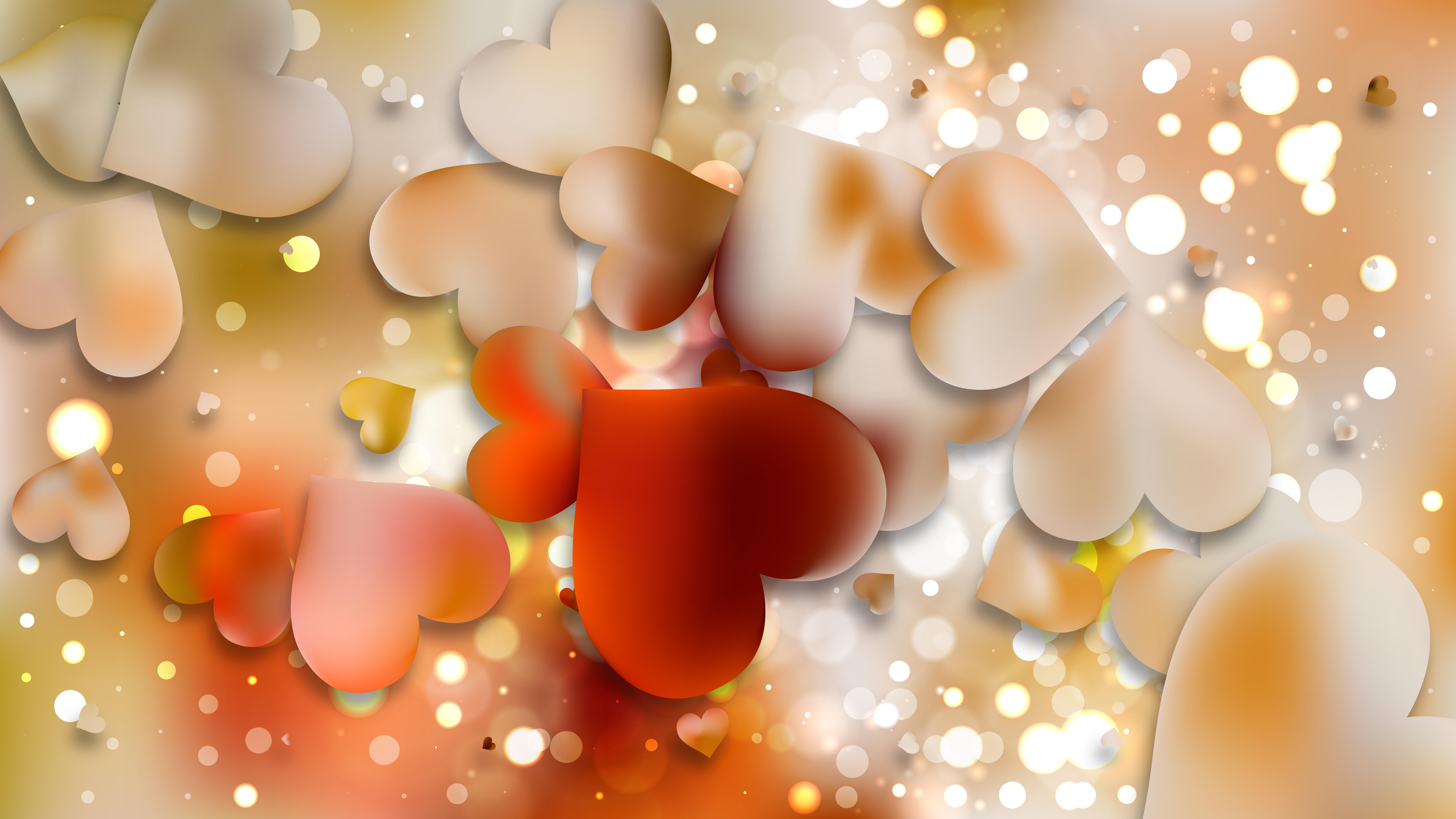 Light Color Heart Wallpaper Background Illustration - Light Color - HD Wallpaper