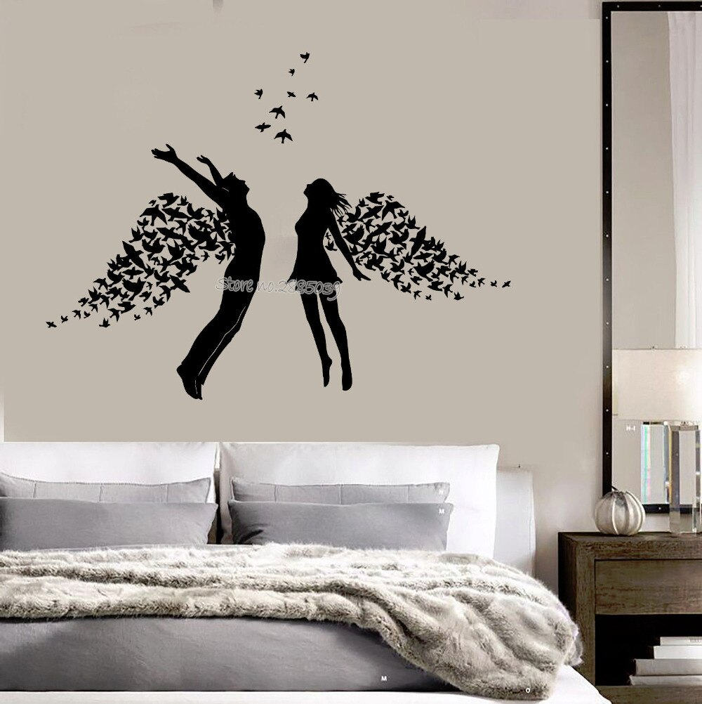 Romantic Wall Design For Bedroom - HD Wallpaper