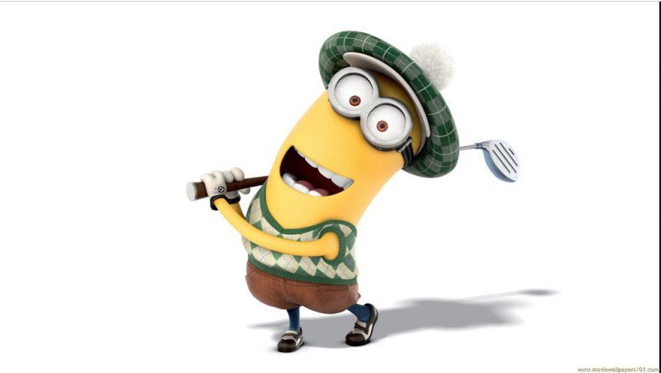 Gambar Dan Wallpapers Minions Lucu - Minions Golf - HD Wallpaper