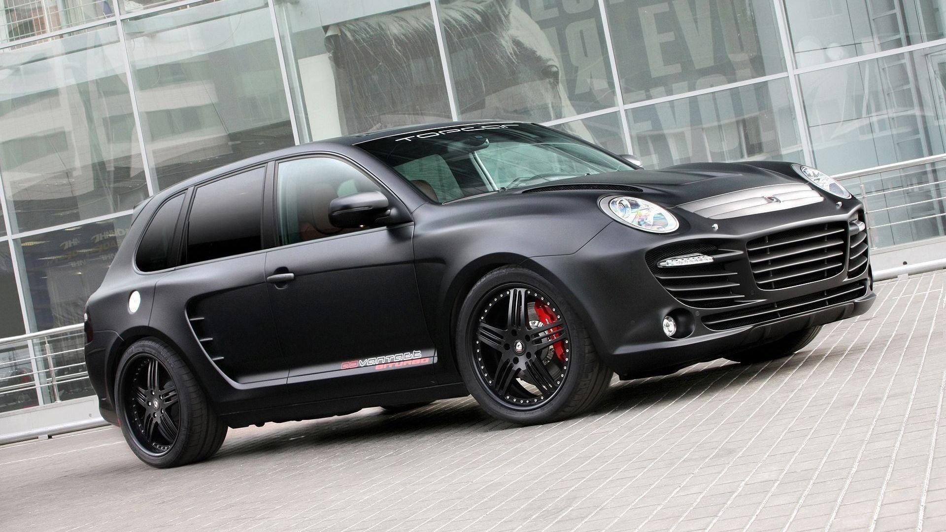 Porsche Cayenne Black Matte 1920x1080 Wallpaper Teahub Io