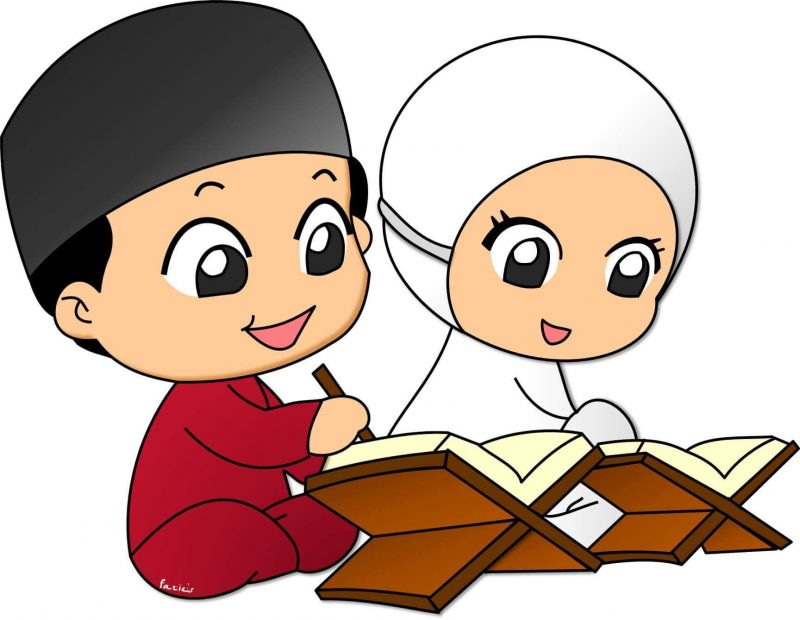 Gambar Kartun Lucu Imut - Islamic Cartoon - HD Wallpaper