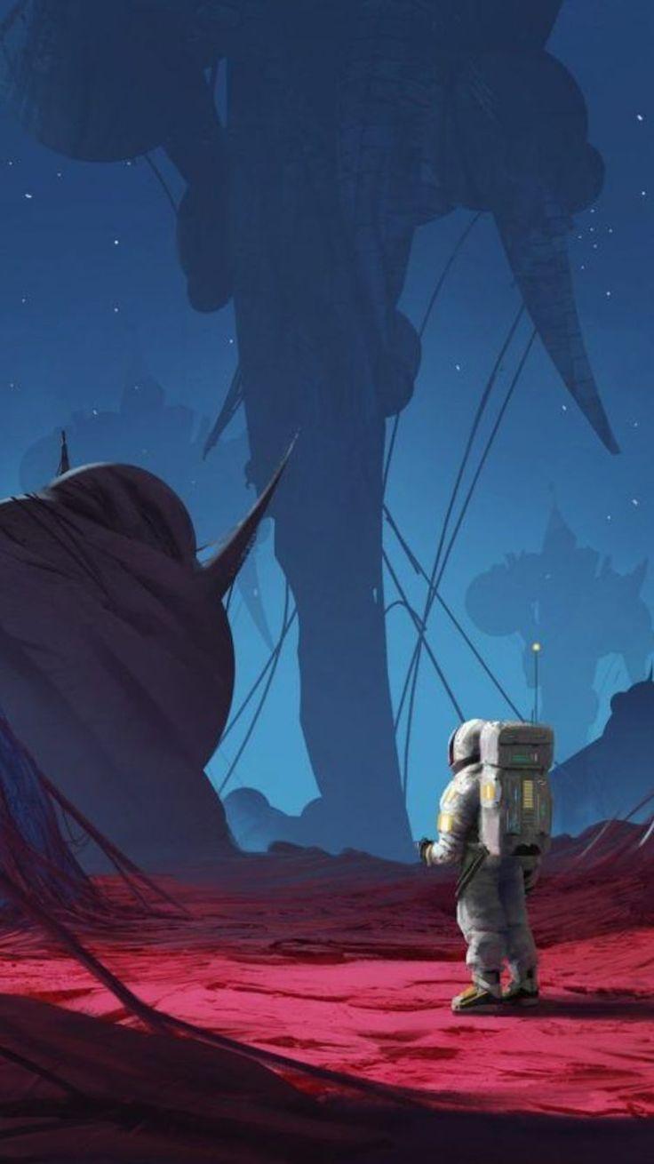 Wallpaper Android Kartun Lucu - Man On The Moon Aesthetic - HD Wallpaper