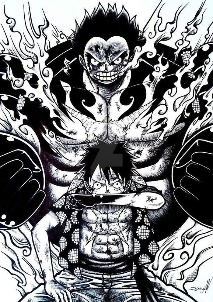 One Piece Black And White 700x989 Wallpaper Teahub Io