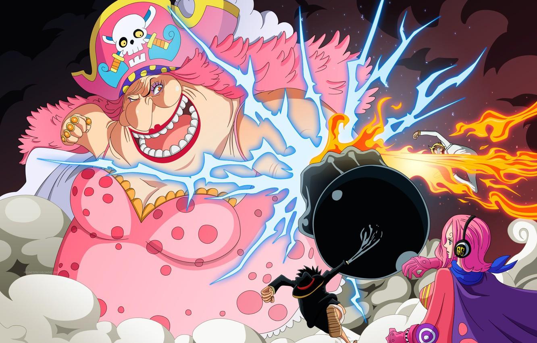 Photo Wallpaper Fire, Sake, Flame, Game, One Piece, - One Piece Vs Big Mom - HD Wallpaper