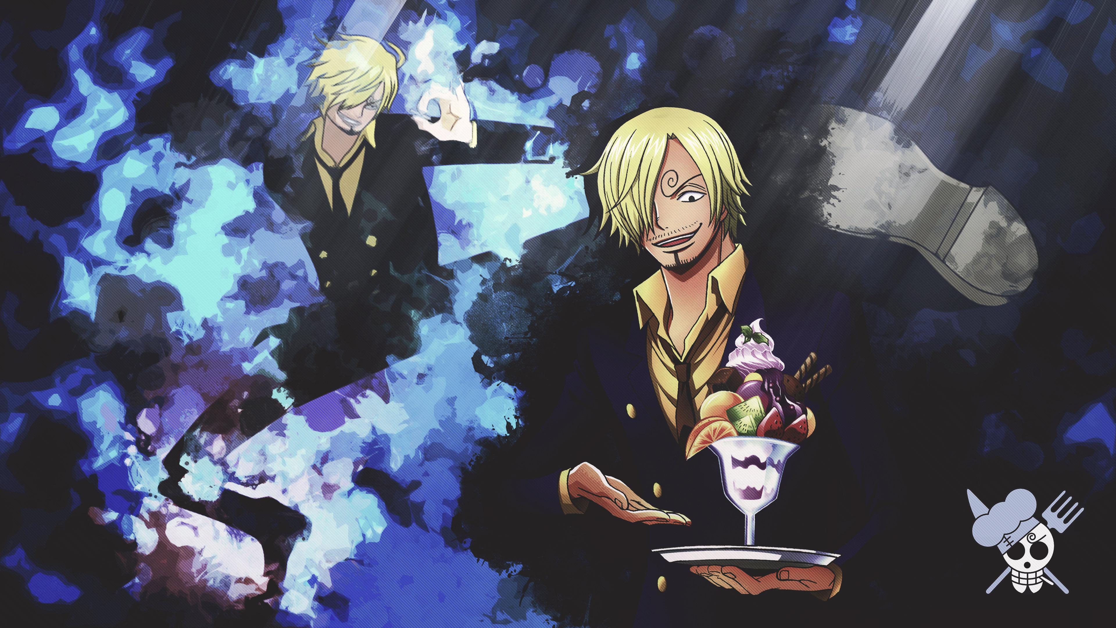 High Resolution Sanji Hd 4k Background Id - 4k Anime One Piece - HD Wallpaper