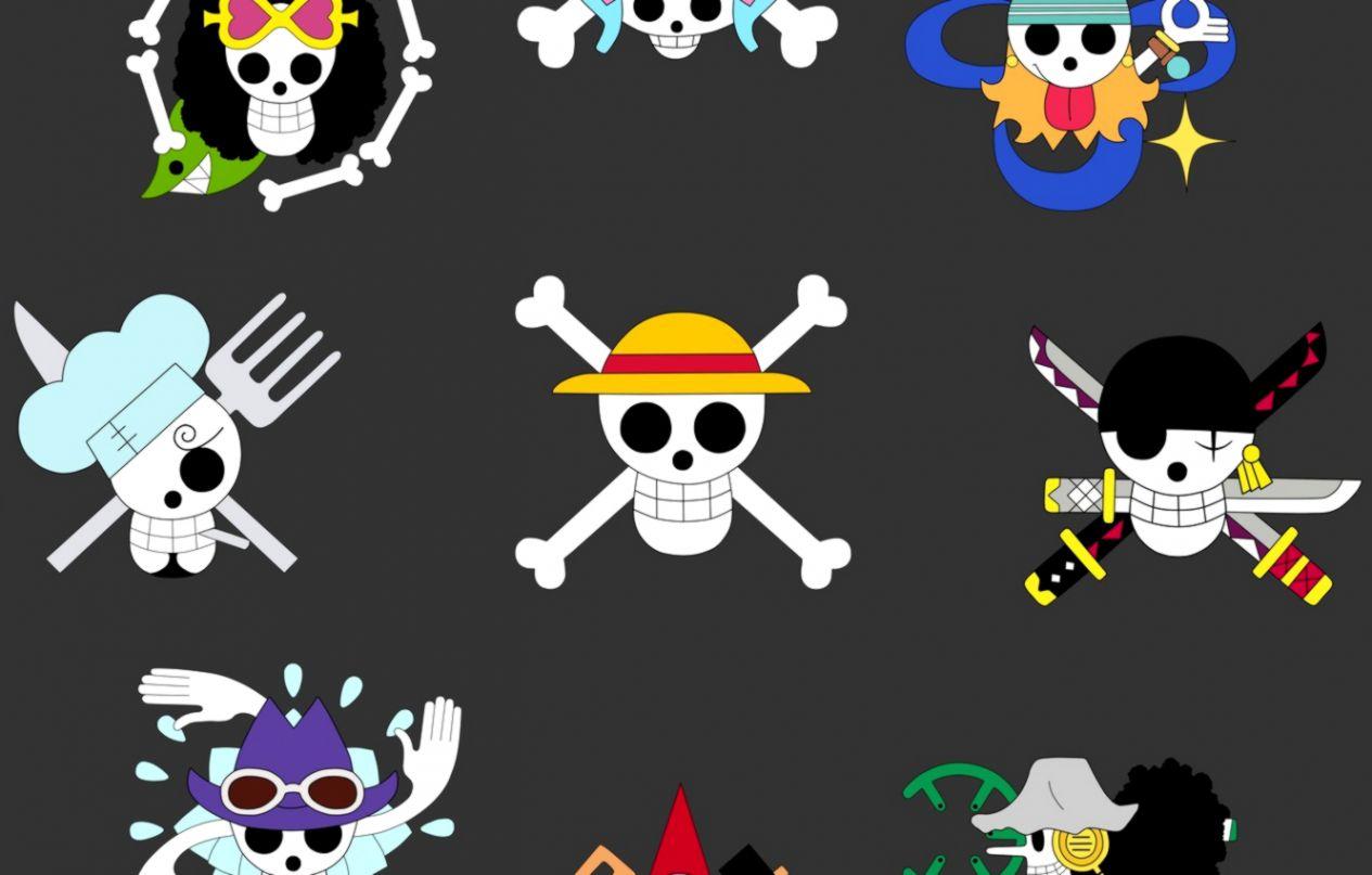 Wallpaper Sake Game Chopper One Piece Pirate Anime - One Piece Crew Jolly Rogers - HD Wallpaper