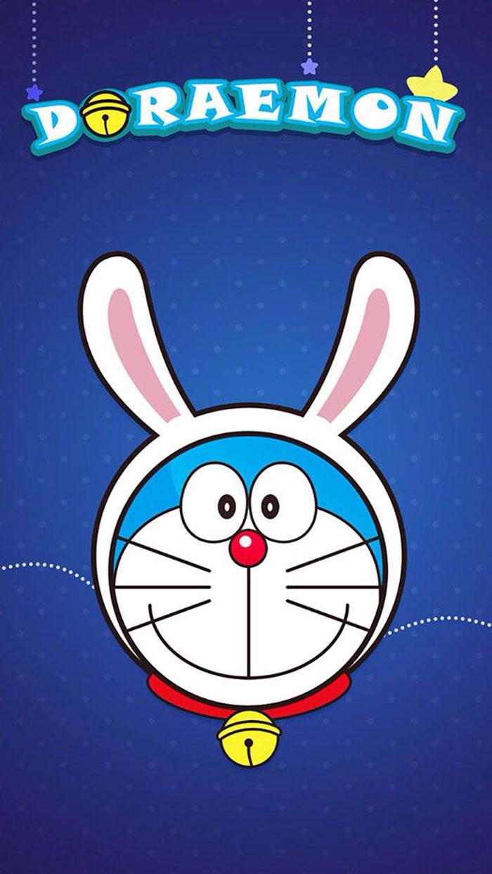 Gambar Kartun Lucu - Gambar Doraemon Warna Hitam - HD Wallpaper