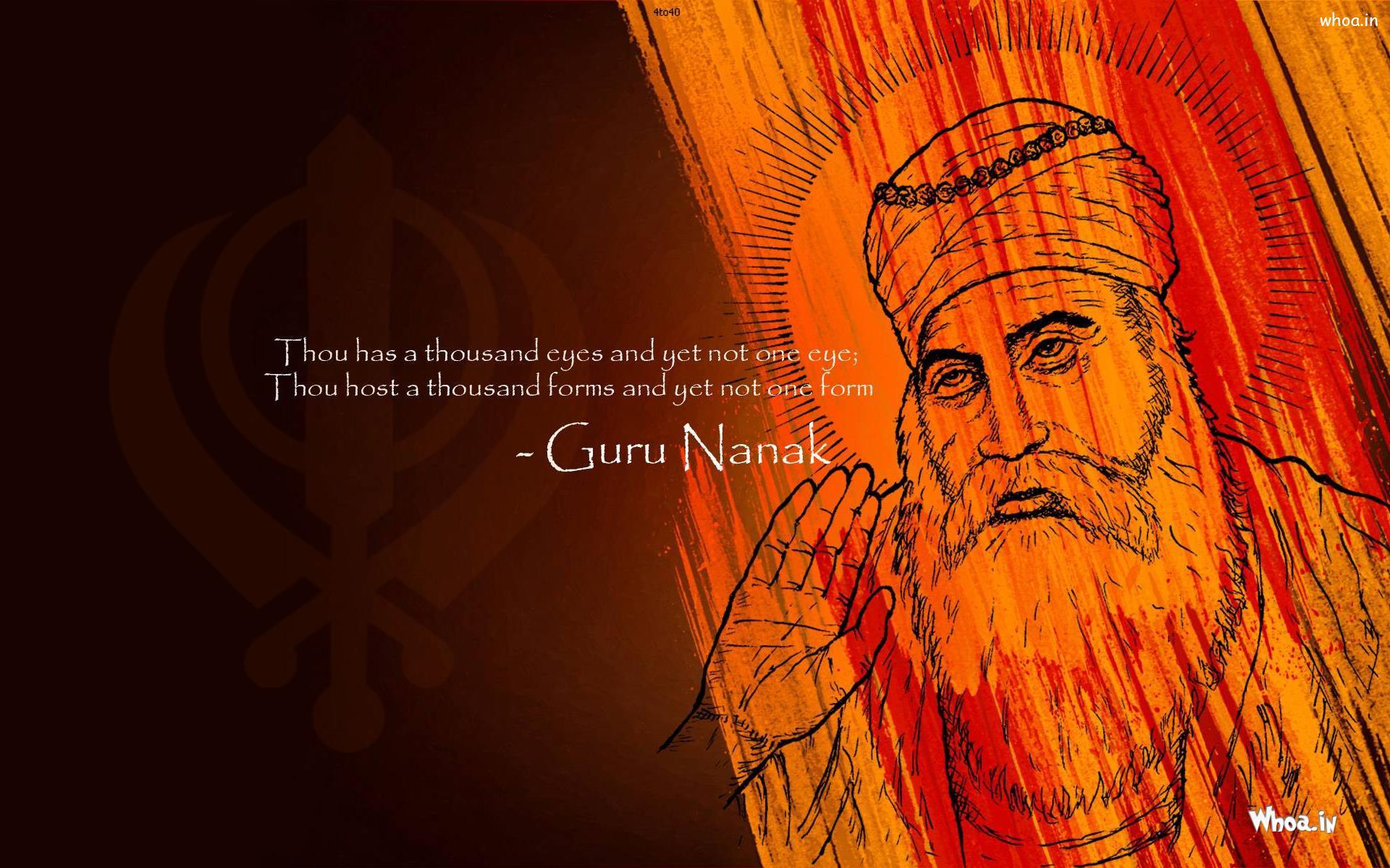 Whoa - In Logo - Quotes Guru Nanak Gurpurab - HD Wallpaper