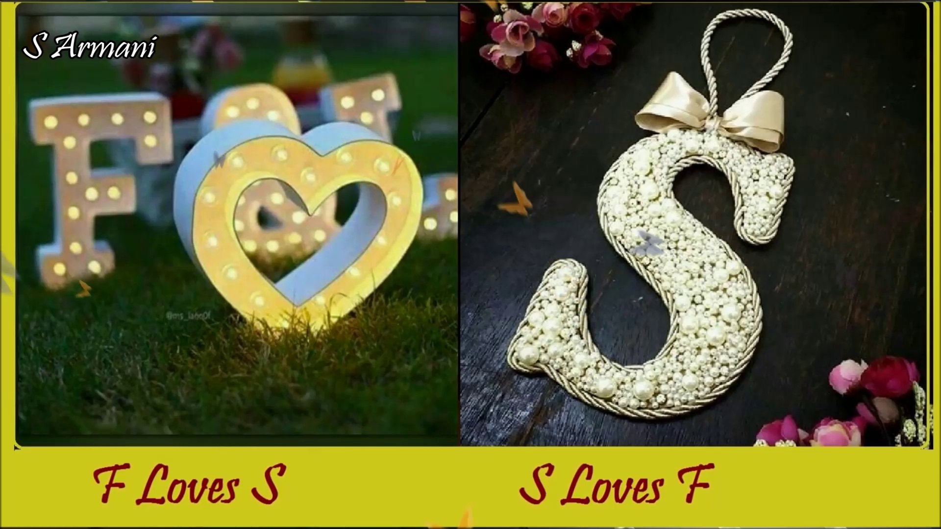 Alphabet F Love S - HD Wallpaper