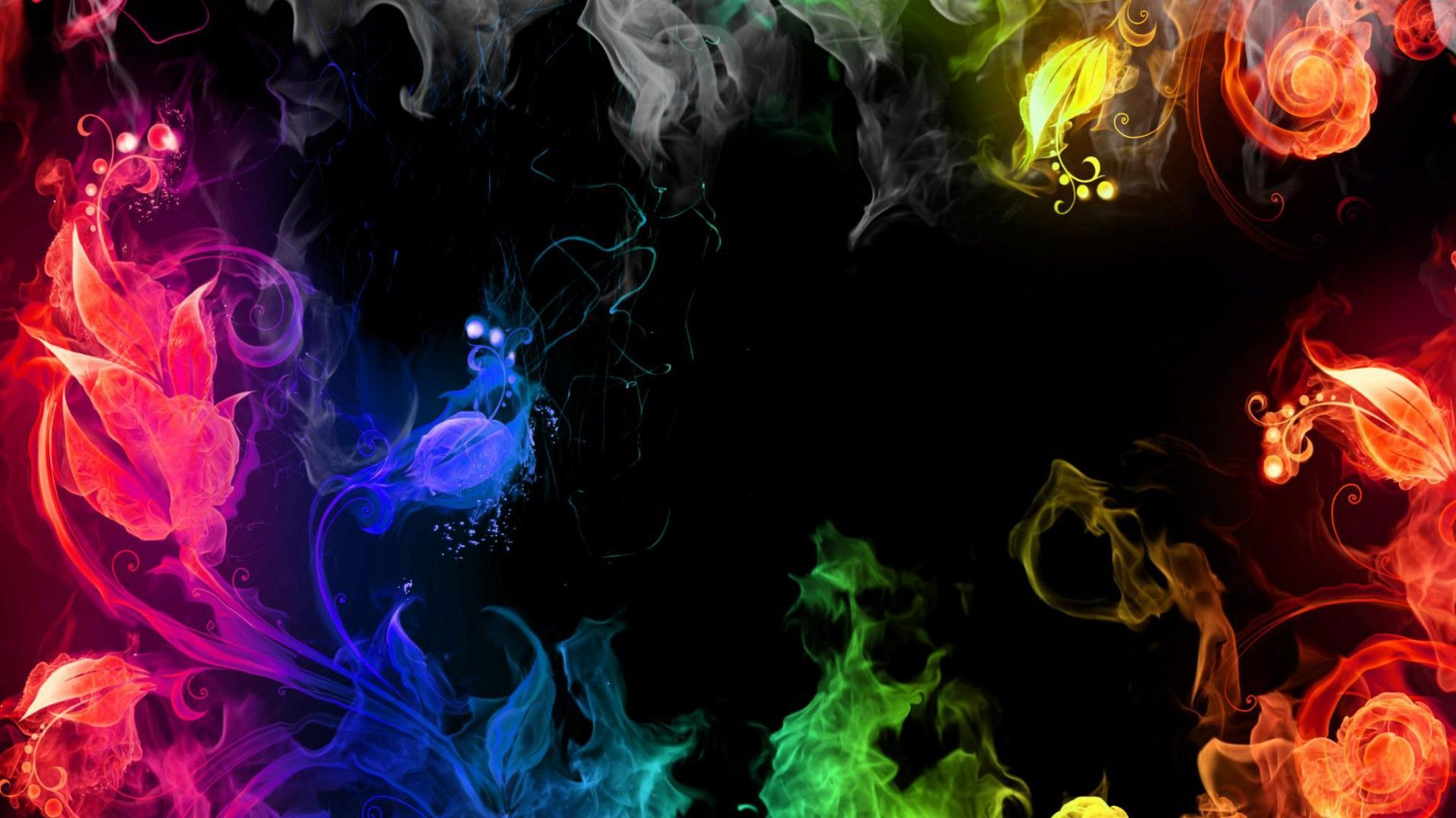 Colorful Abstract Art - Dark Colourful Background Hd - HD Wallpaper