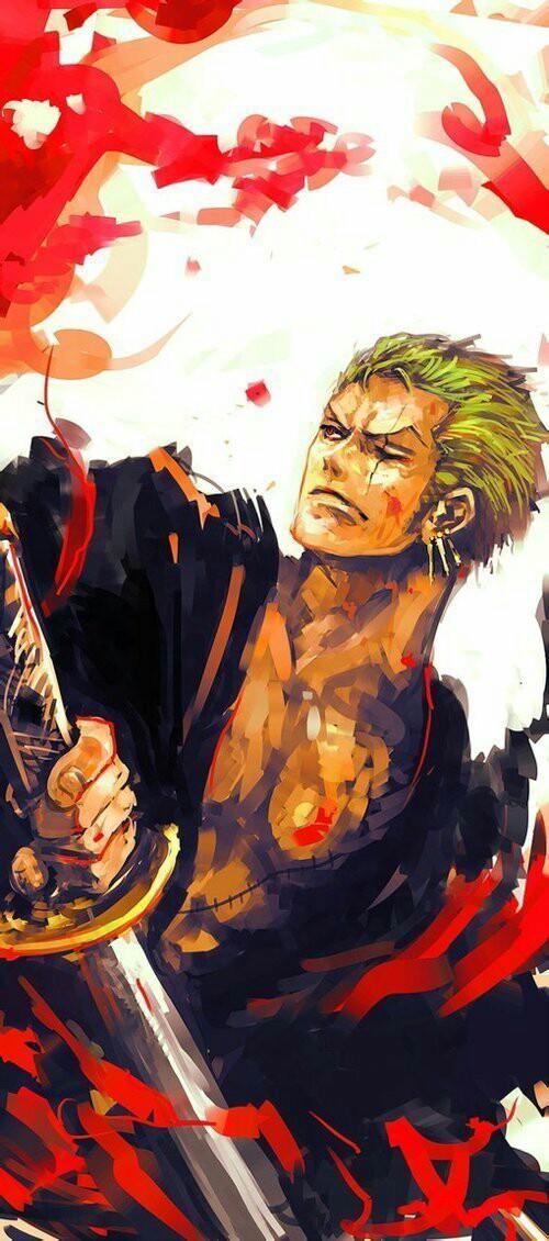One Piece Roronoa Zoro And Anime Image Roronoa Zoro Wallpaper Iphone 500x1130 Wallpaper Teahub Io