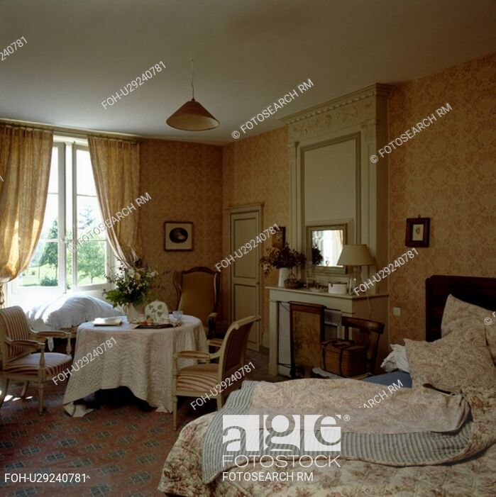 Matching Wallpaper And Curtains In Country Bedroom Window Covering 699x701 Wallpaper Teahub Io