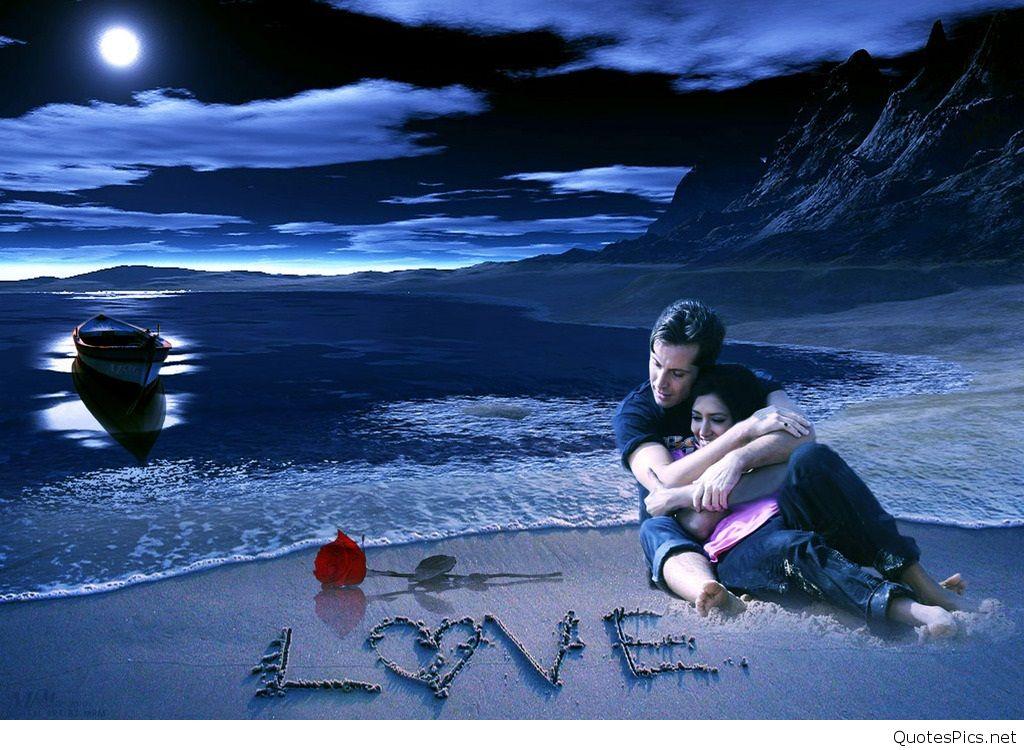 Romantic Couple Wallpapers Hd Love Couple Images - Romantic Pics Of Couple In Night - HD Wallpaper