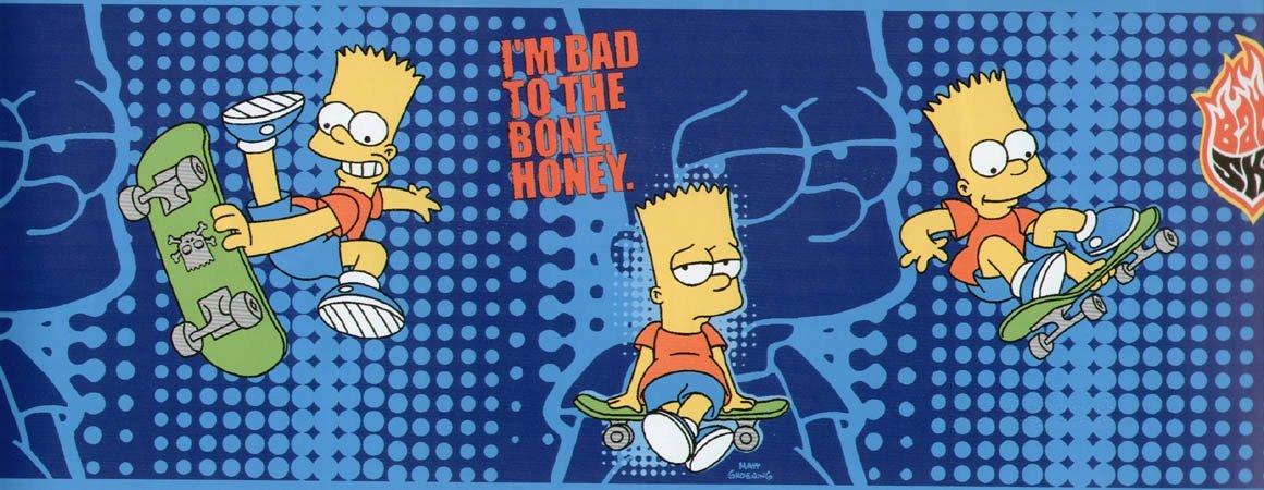 The Simpsons Bart Simpson Wallpaper Border 5m X17,5cm - Bart Simpson - HD Wallpaper