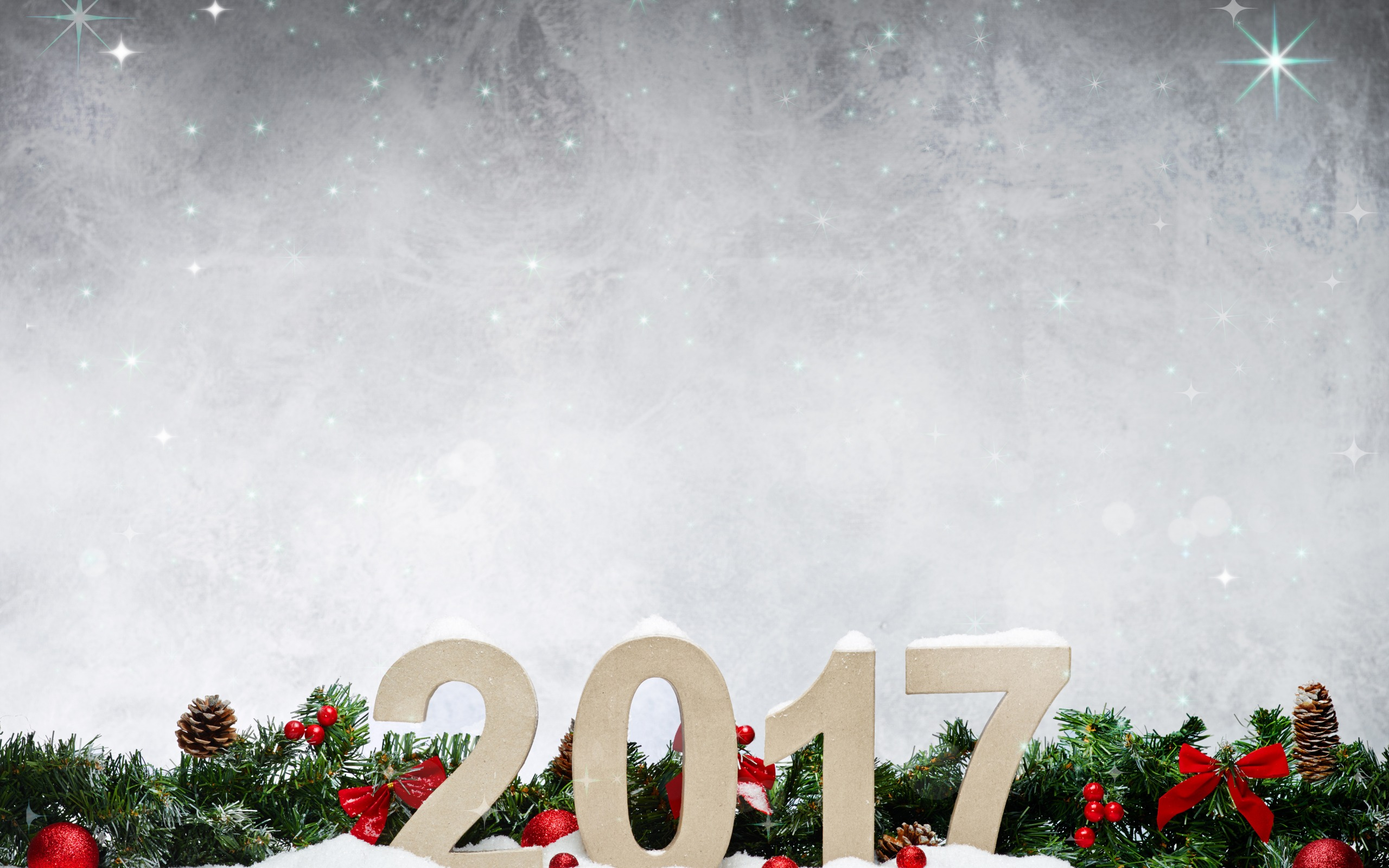 Merry Christmas And Happy New Year 2017 Wallpaper - Christmas Tree - HD Wallpaper