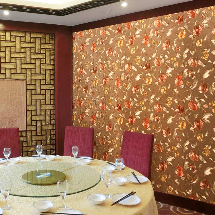 Dining Room And Shop Wall Decoration Golden Wallpaper - Golden Wallpaper Design For Wall - HD Wallpaper