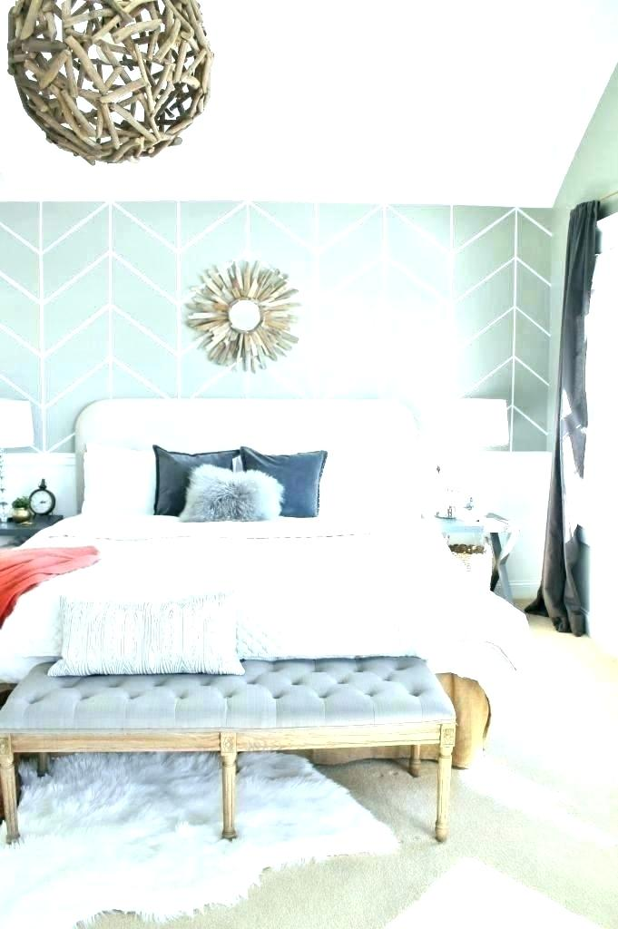 Accent Wall Behind Bed Ideas - HD Wallpaper