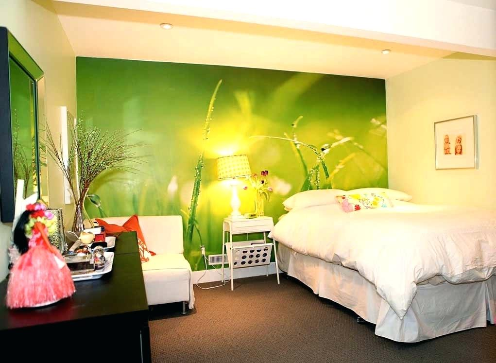 Wallpaper In Bedroom On One Wall Wallpaper For Bedroom - Lime Green Wallpaper Designs - HD Wallpaper