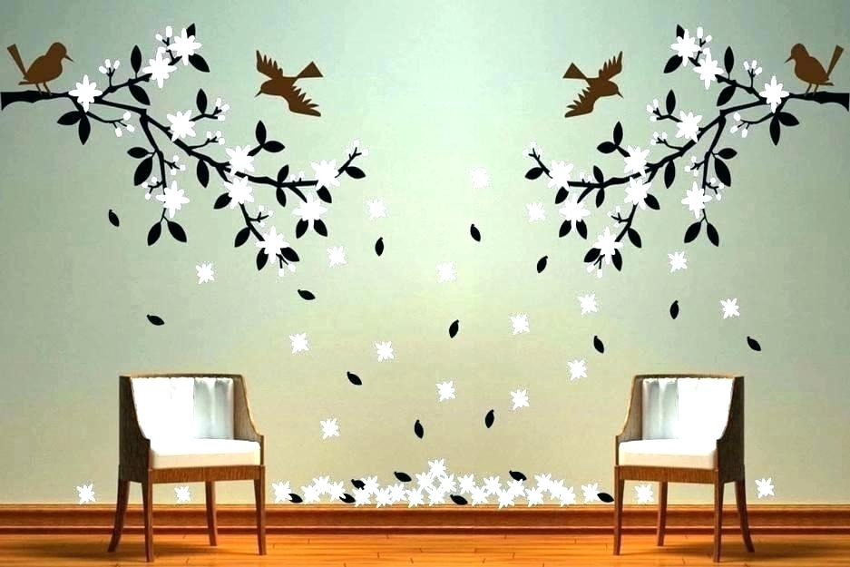 Modern Wall Painting Designs Pictures For Living Room - Wall Painting Designs For Bedroom - HD Wallpaper