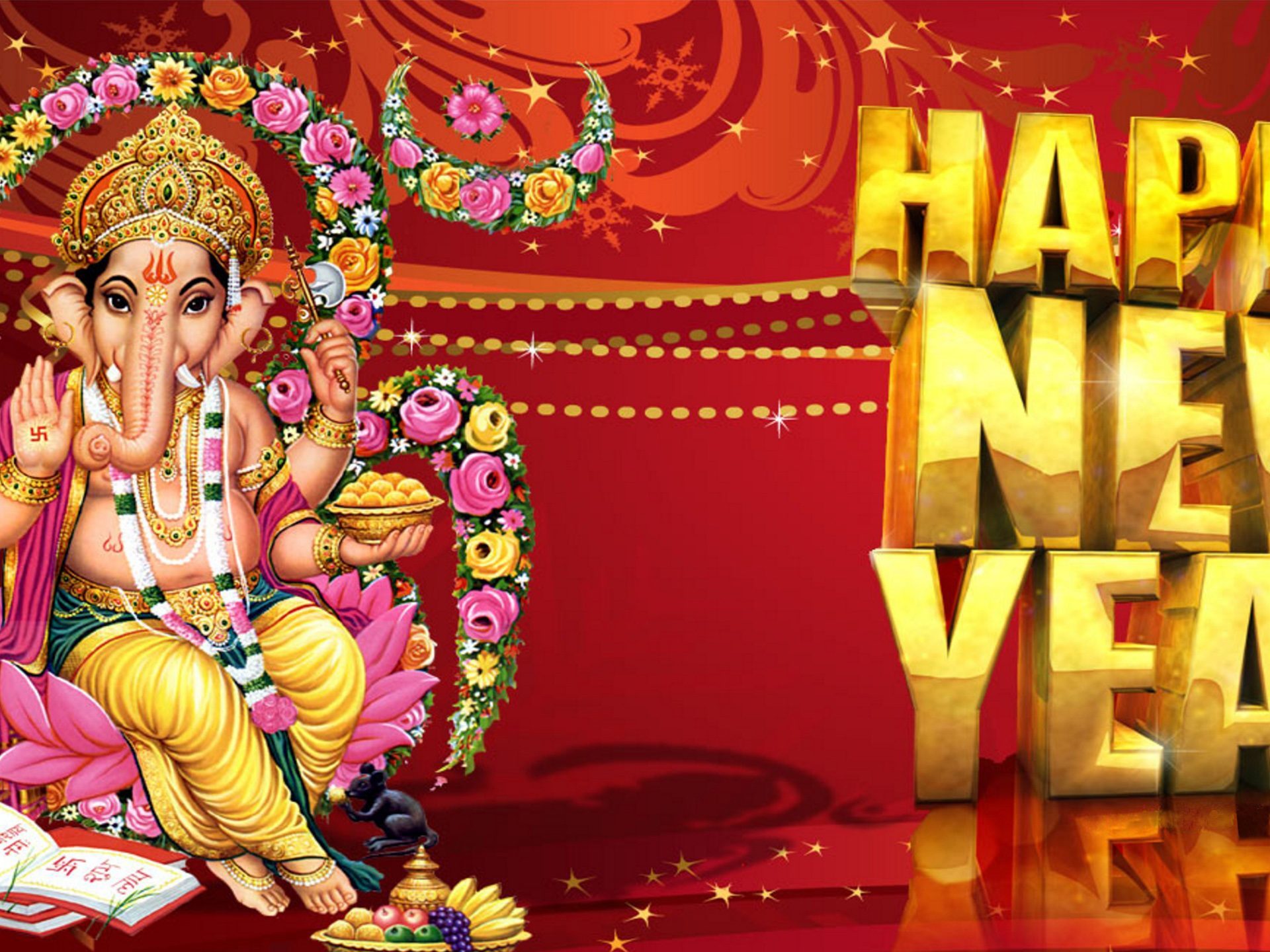 Happy New Year Indian - HD Wallpaper