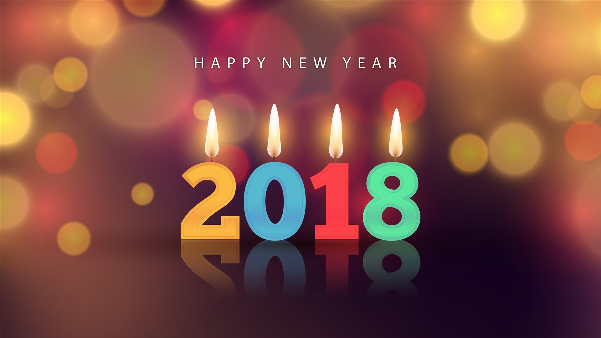 Happy New Year 2018 Blessing Wallpaper Hd Background - Blessed New Year 2018 - HD Wallpaper