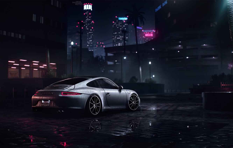 Photo Wallpaper Auto, 911, Porsche, Machine, Porsche - Porsche 911 Carrera 4k - HD Wallpaper