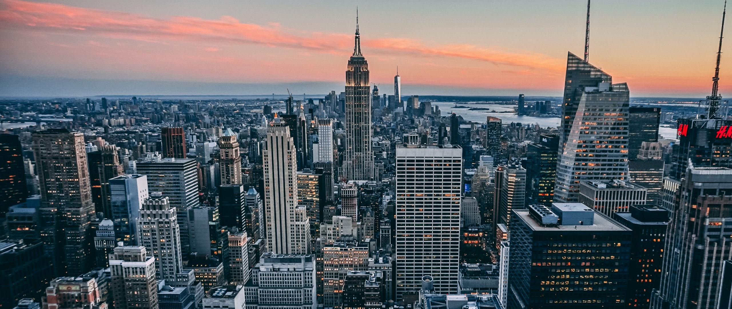 Wallpaper Manhattan New York Usa Skyscrapers New York City 2560x1080 Wallpaper Teahub Io