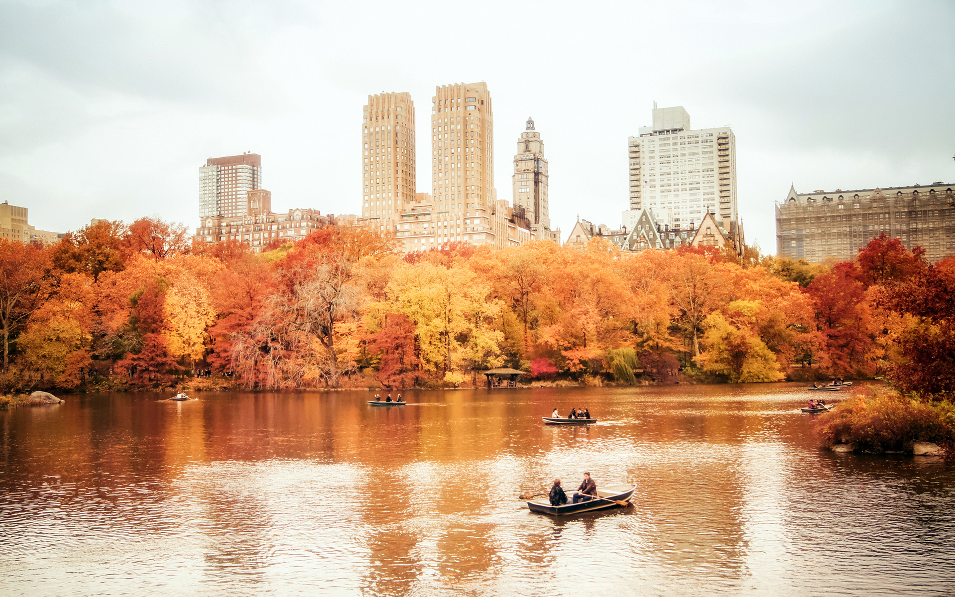 Usa Manhattan Nyc New York City New York Central Park - Autumn In New York Desktop - HD Wallpaper