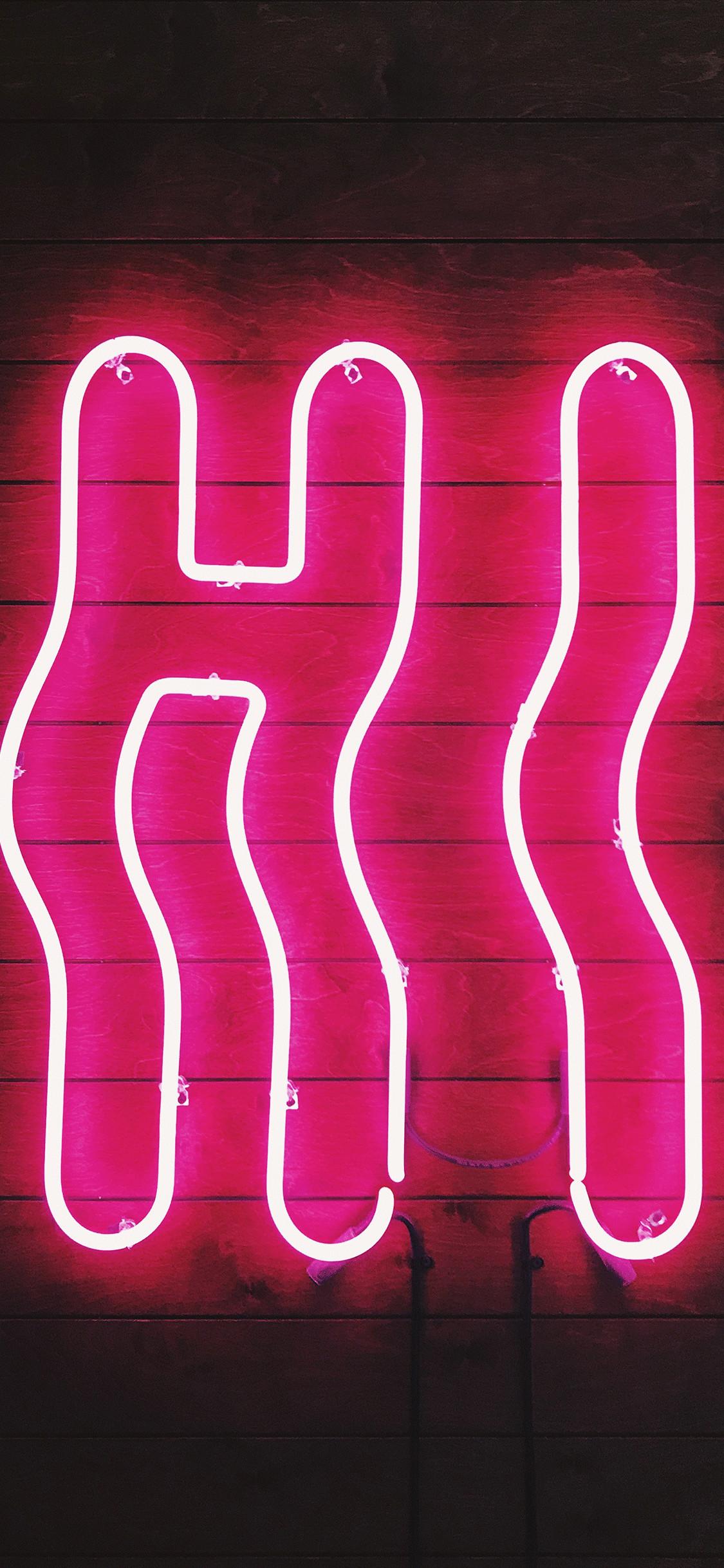 Iphone Wallpaper Neon Sign Hi Neon Sign   Data Src - Iphone Wallpaper Neon Lights - HD Wallpaper