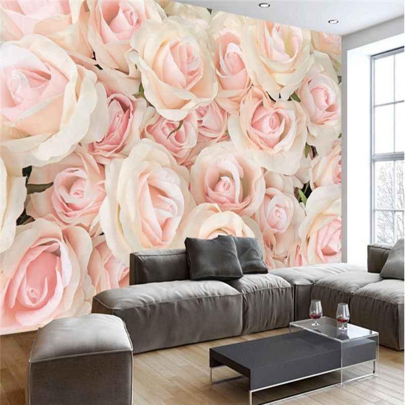 3d Photo Wallpaper Romantic Wall Murals Modern Pink - 3d Wallpapers For Bedroom Walls - HD Wallpaper
