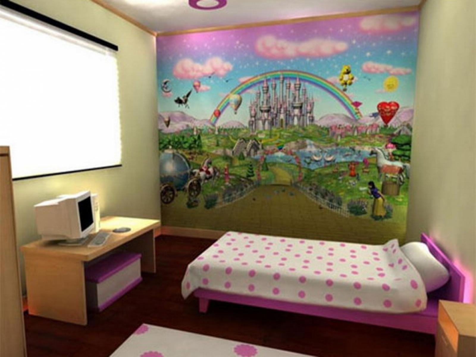 Girls Bedroom Wall Mural - HD Wallpaper